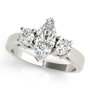 marquise trilogy engagement ring