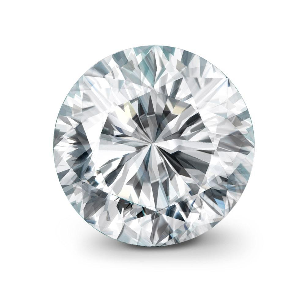 Large Round Cut Diamond Looking From The Top