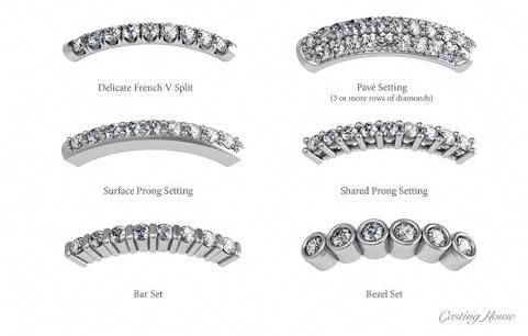 6 Different Diamond Setting Examples