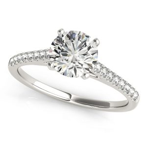 round diamond micro set engagement ring