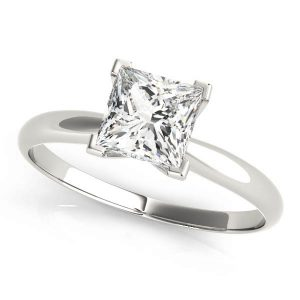 4 Claw Princess Cut Diamond Solitaire Engagement Ring