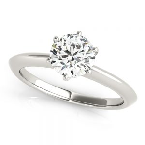 Platinum 950 Six Prong, Solitaire Engagement Ring 1.00ct