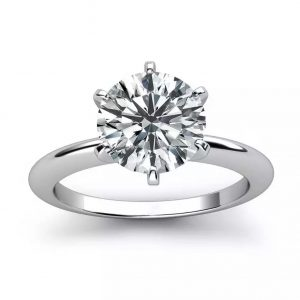Six Prong Solitaire Engagement Ring