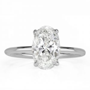 Hidden Halo Oval Engagement Ring
